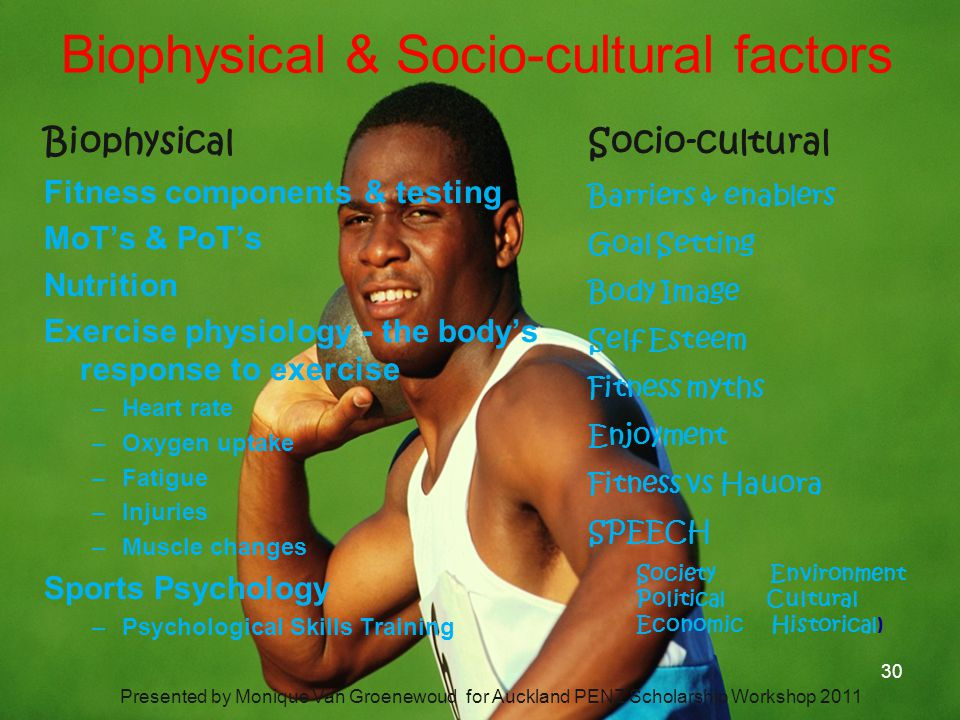 Biophysical & Socio-cultural factors