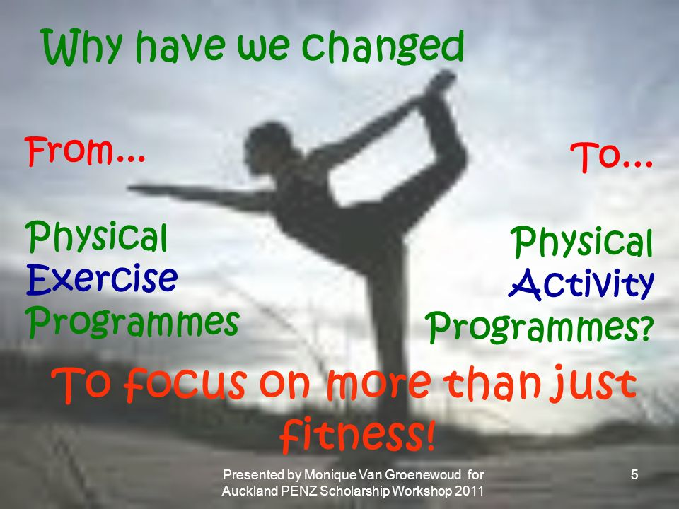 To focus on more than just fitness!