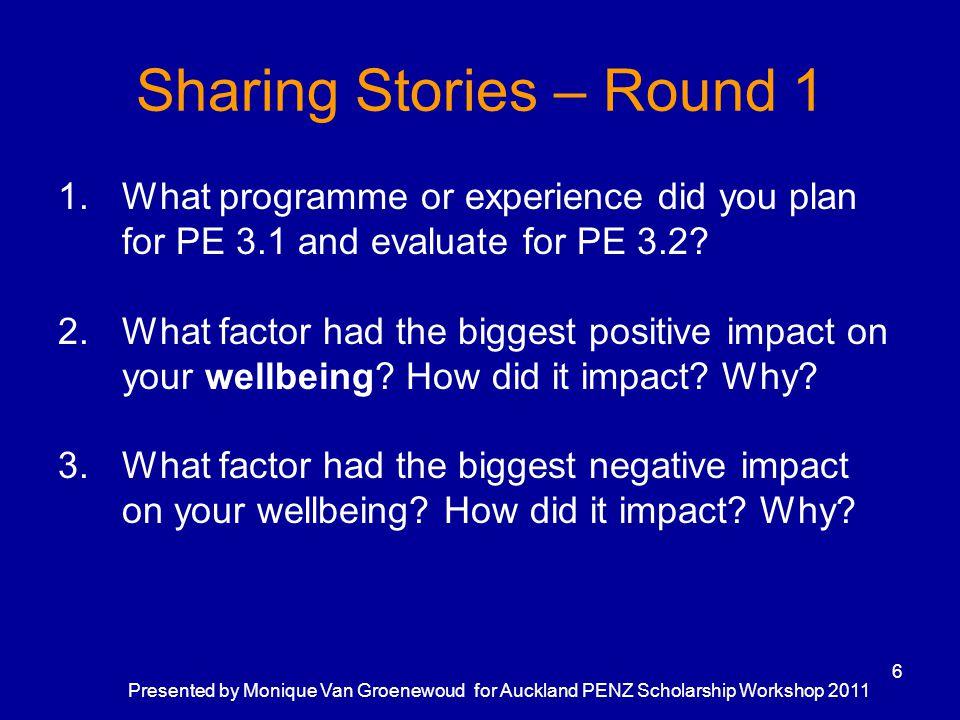 Sharing Stories – Round 1