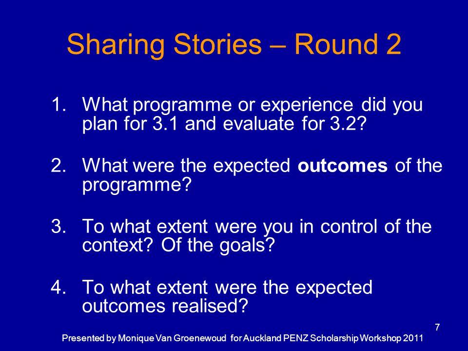 Sharing Stories – Round 2
