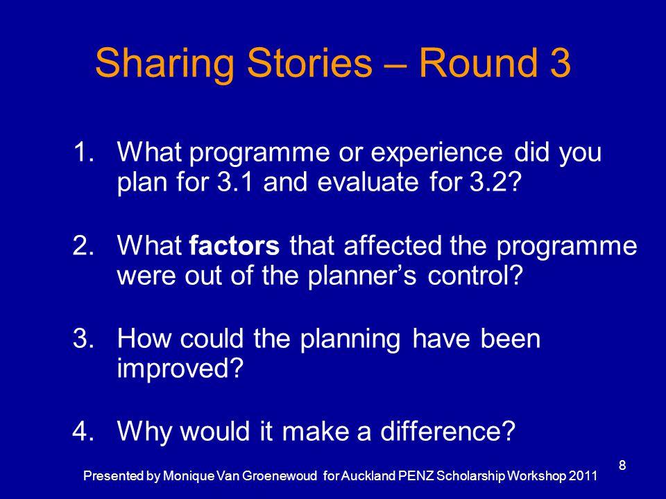 Sharing Stories – Round 3