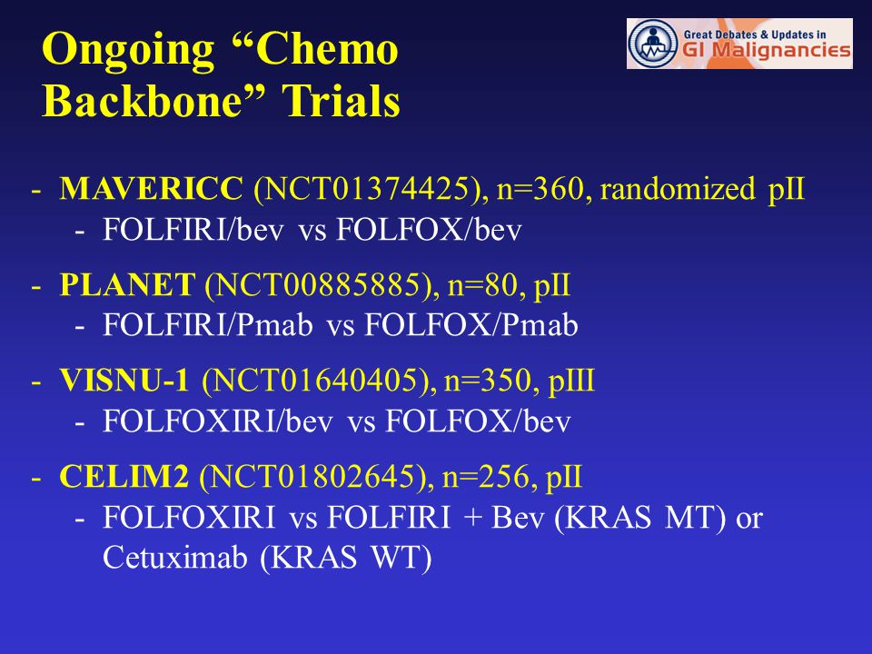 Ongoing Chemo Backbone Trials