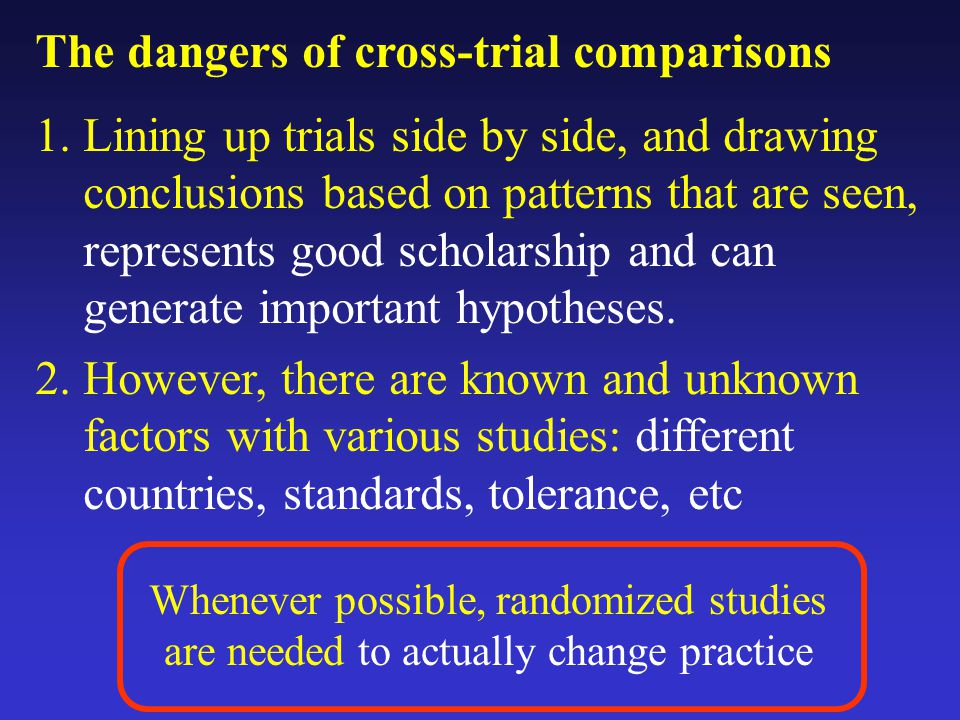 The dangers of cross-trial comparisons