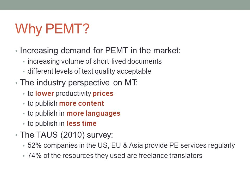 Why PEMT Increasing demand for PEMT in the market: