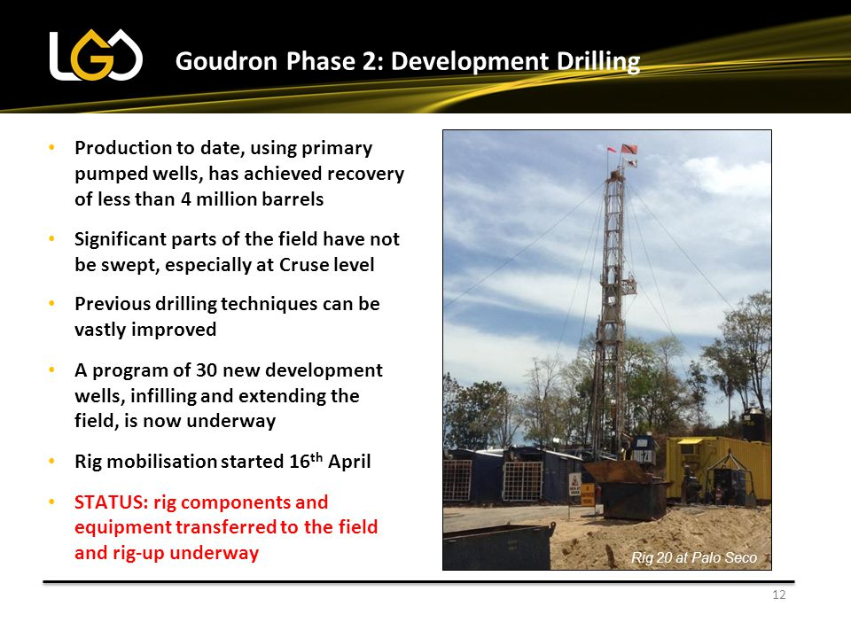 Goudron Phase 2: Development Drilling