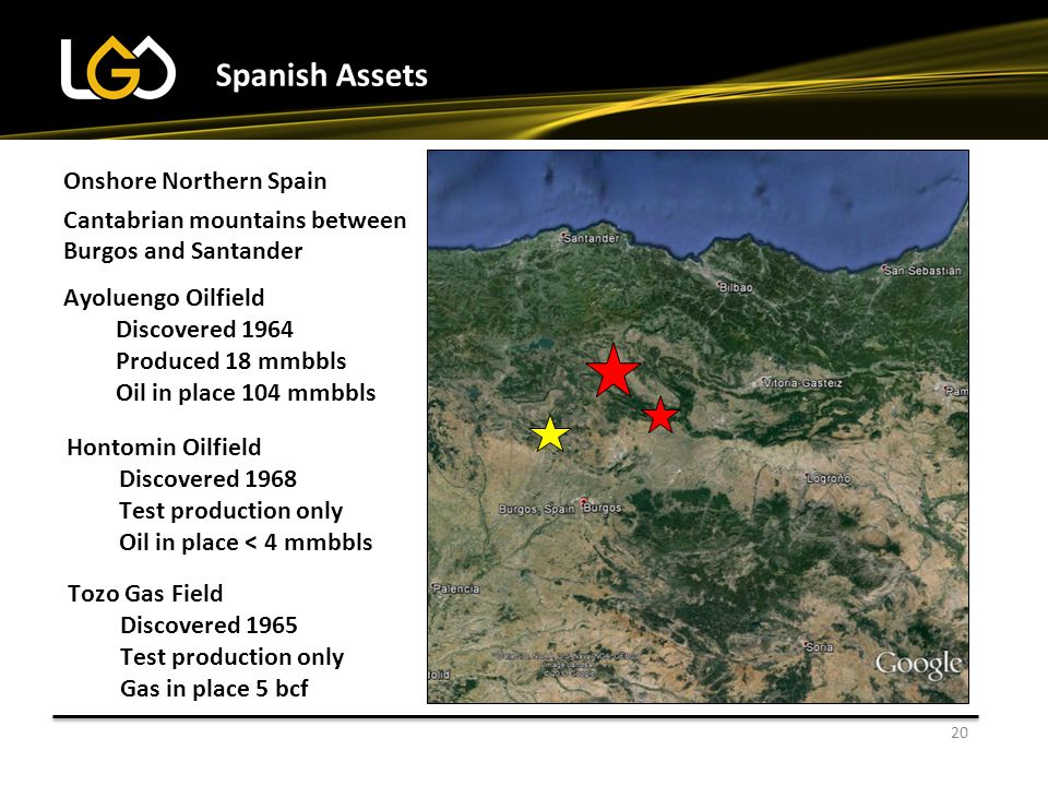 Spanish Assets Onshore Northern Spain