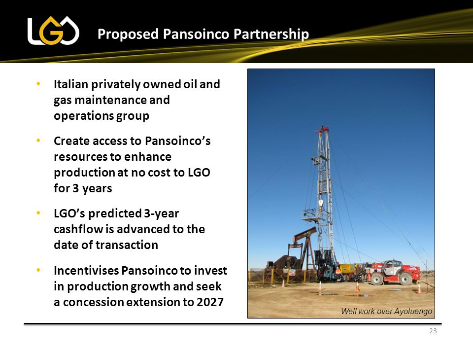 Proposed Pansoinco Partnership