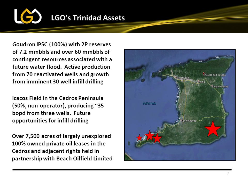 LGO's Trinidad Assets