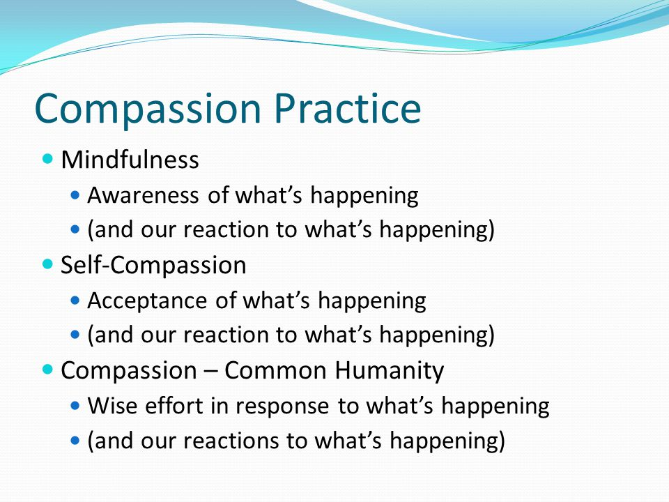 Compassion Practice Mindfulness Self-Compassion