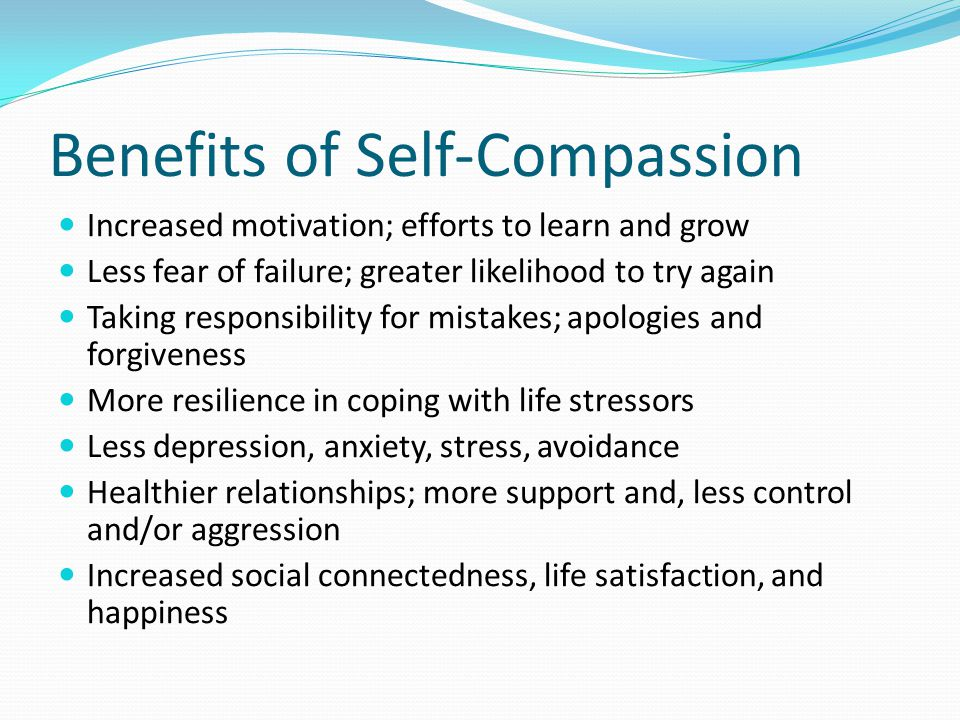 Benefits of Self-Compassion
