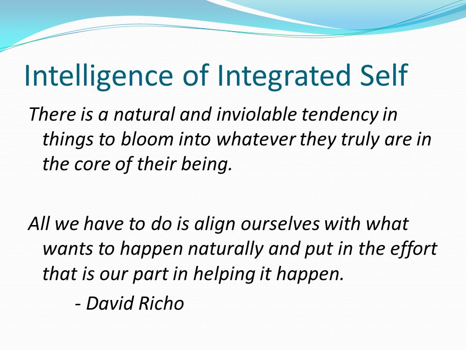 Intelligence of Integrated Self