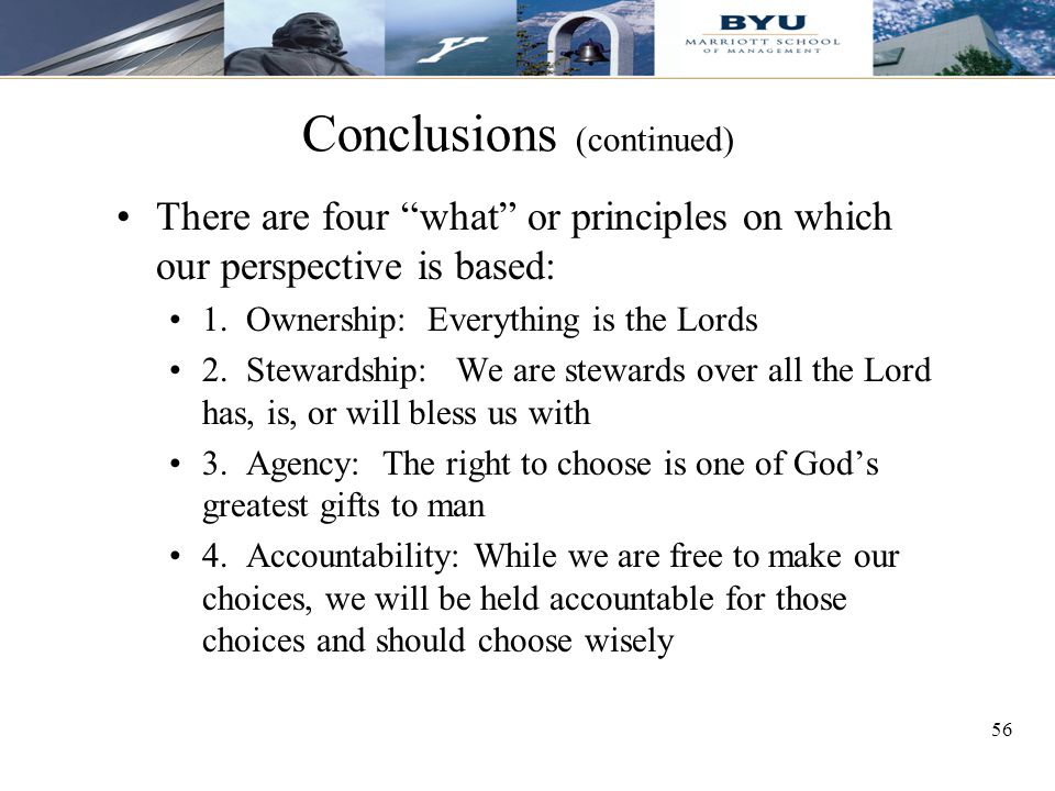Conclusions (continued)