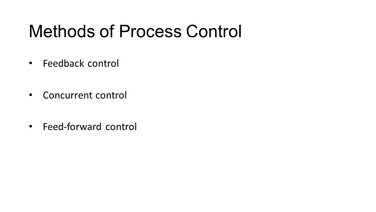 Methods of Process Control