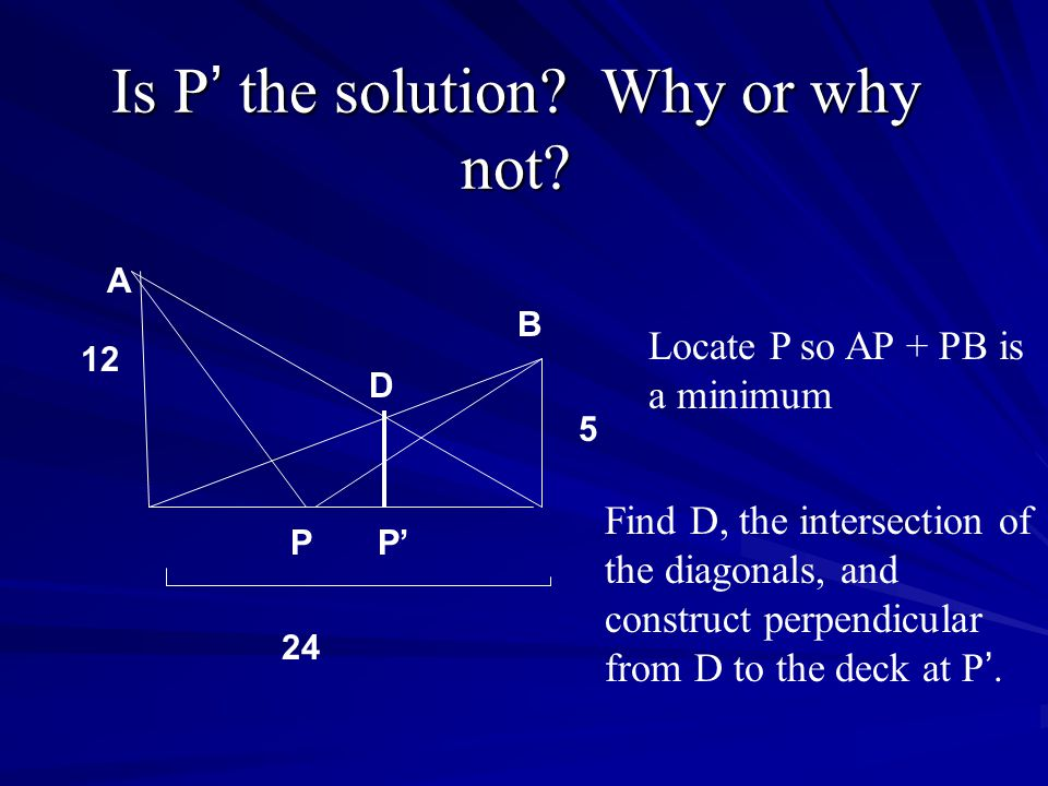 Is P' the solution Why or why not