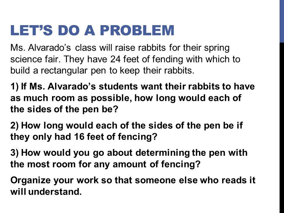 Let's do a problem