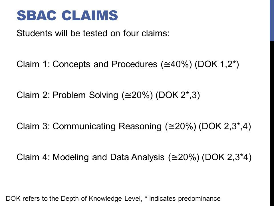 SBAC Claims