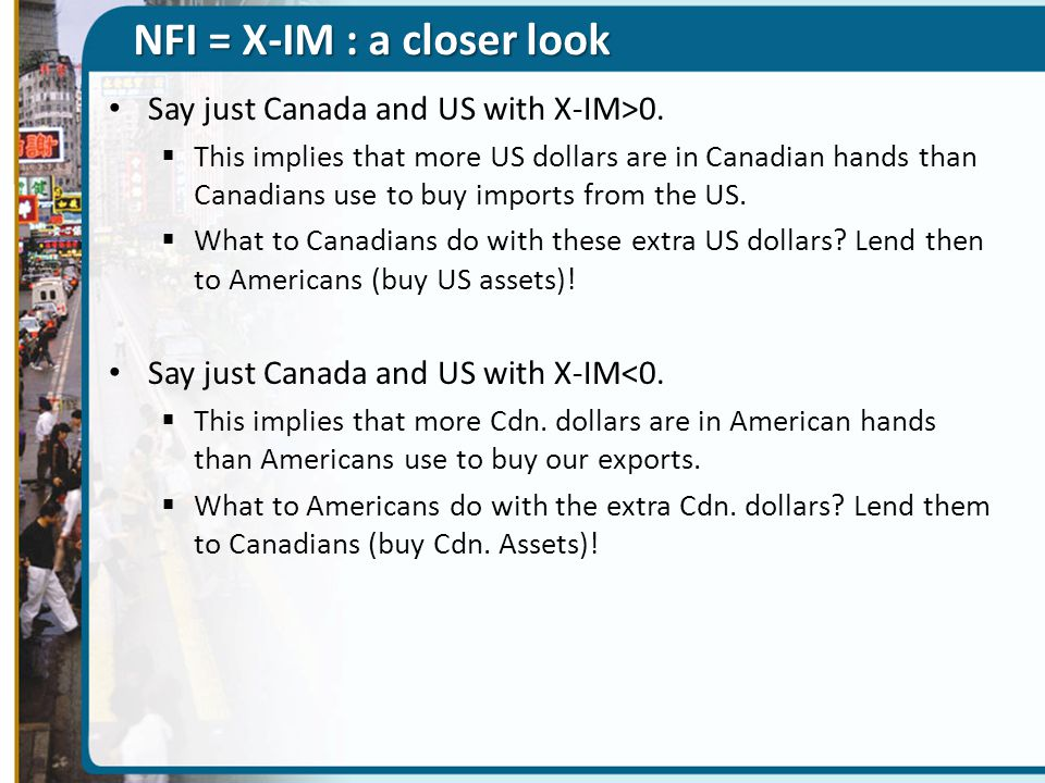 NFI = X-IM : a closer look