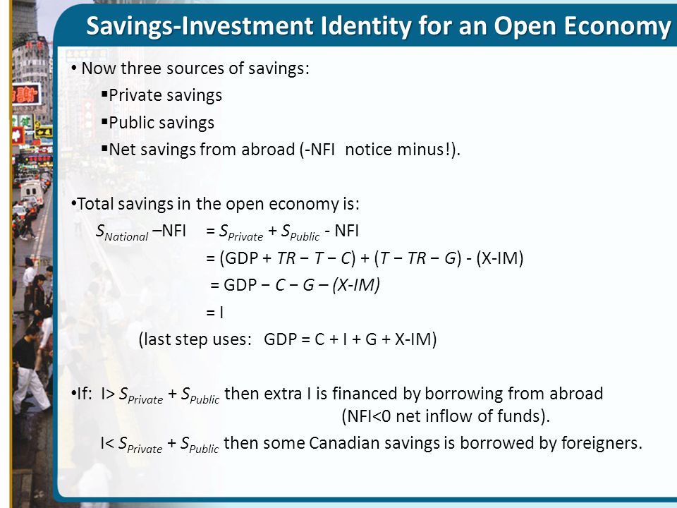 Savings-Investment Identity for an Open Economy