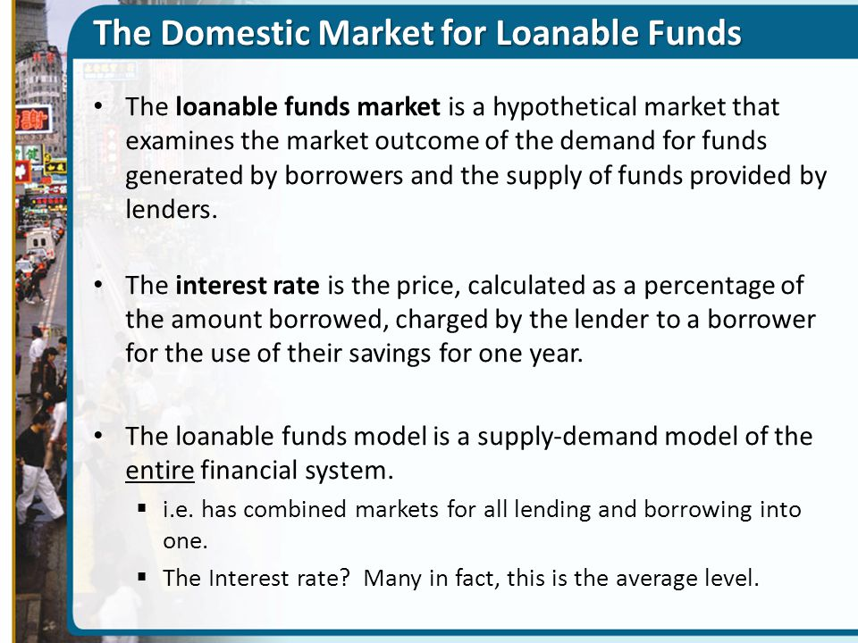 The Domestic Market for Loanable Funds