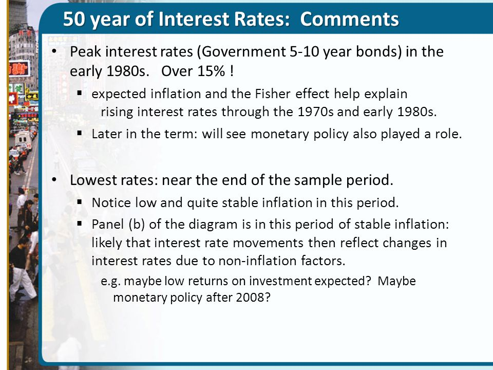 50 year of Interest Rates: Comments