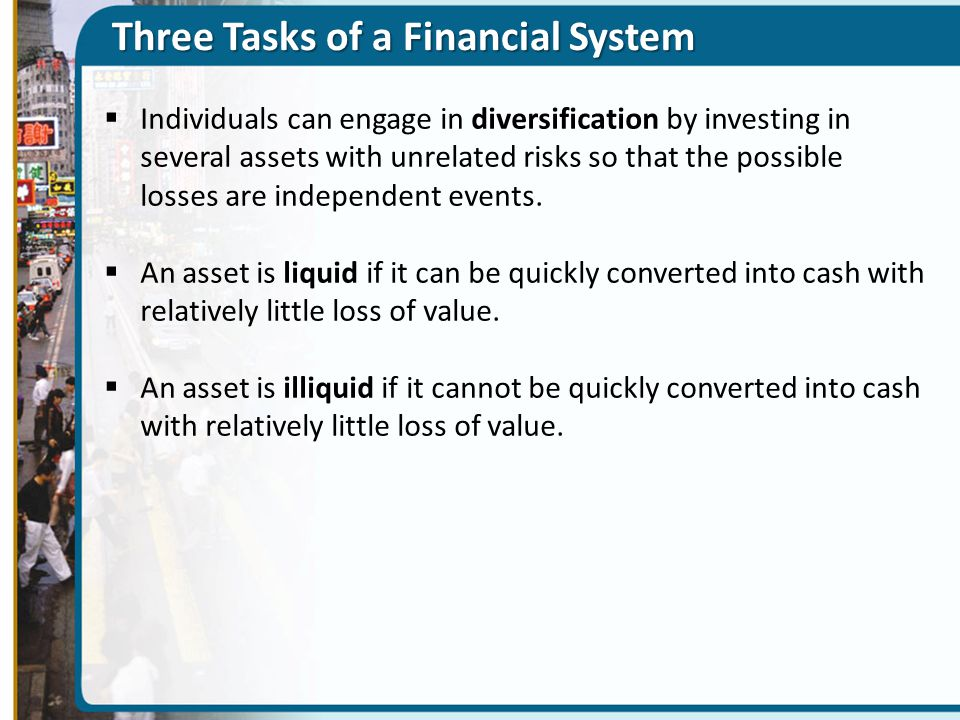 Three Tasks of a Financial System