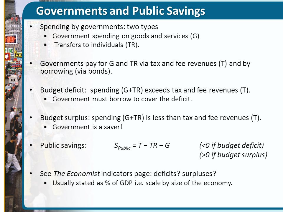 Governments and Public Savings