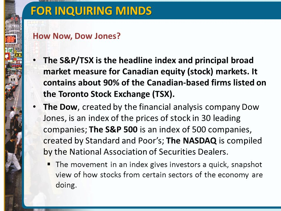 FOR INQUIRING MINDS How Now, Dow Jones