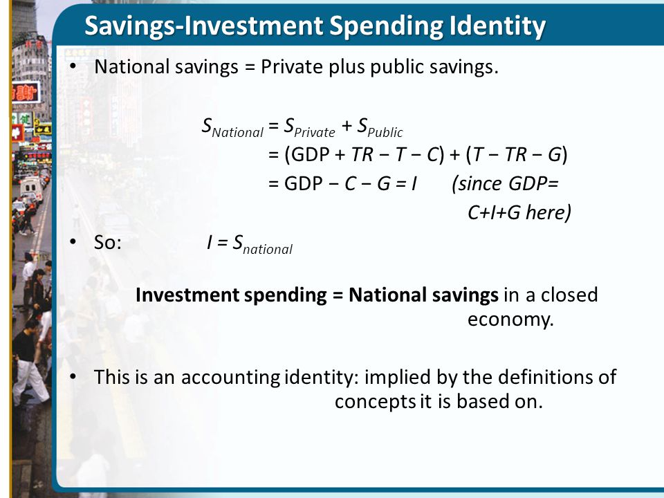 Savings-Investment Spending Identity
