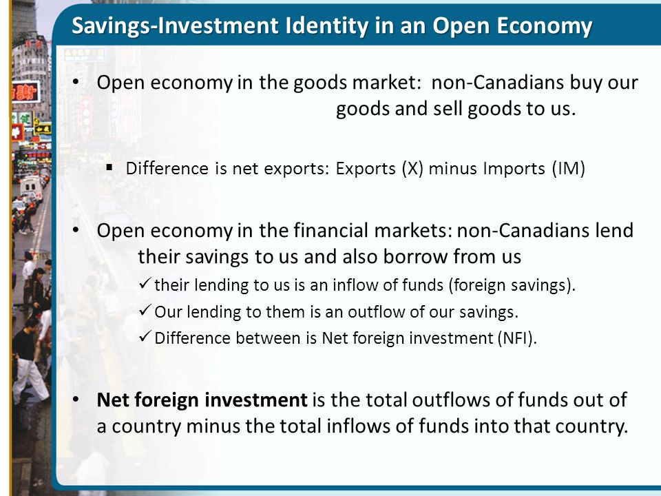 Savings-Investment Identity in an Open Economy