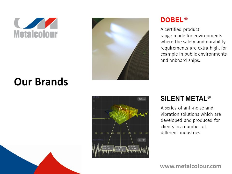 Our Brands DOBEL ® SILENT METAL® www.metalcolour.com