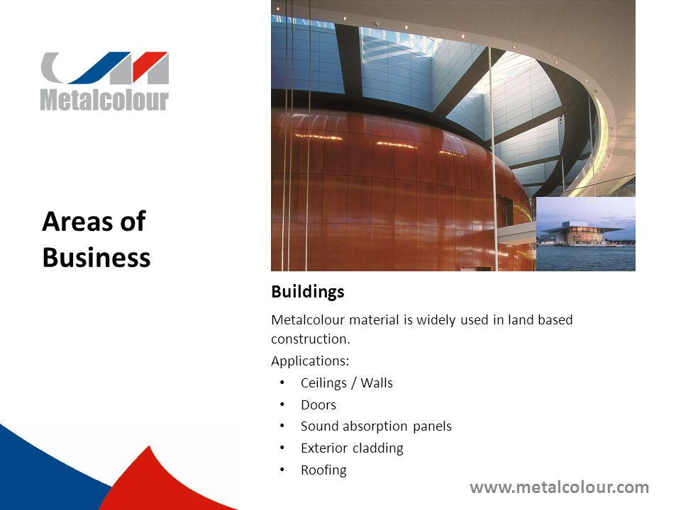 Areas of Business Buildings