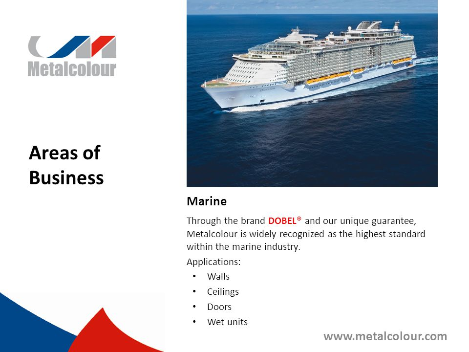 Areas of Business Marine