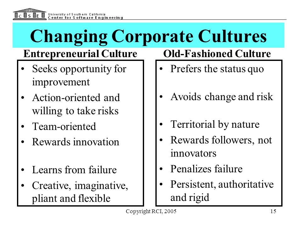 Changing Corporate Cultures