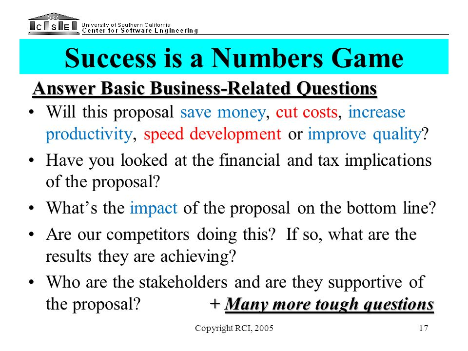 Success is a Numbers Game