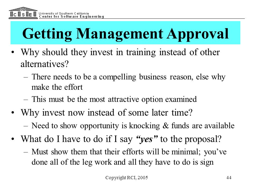 Getting Management Approval