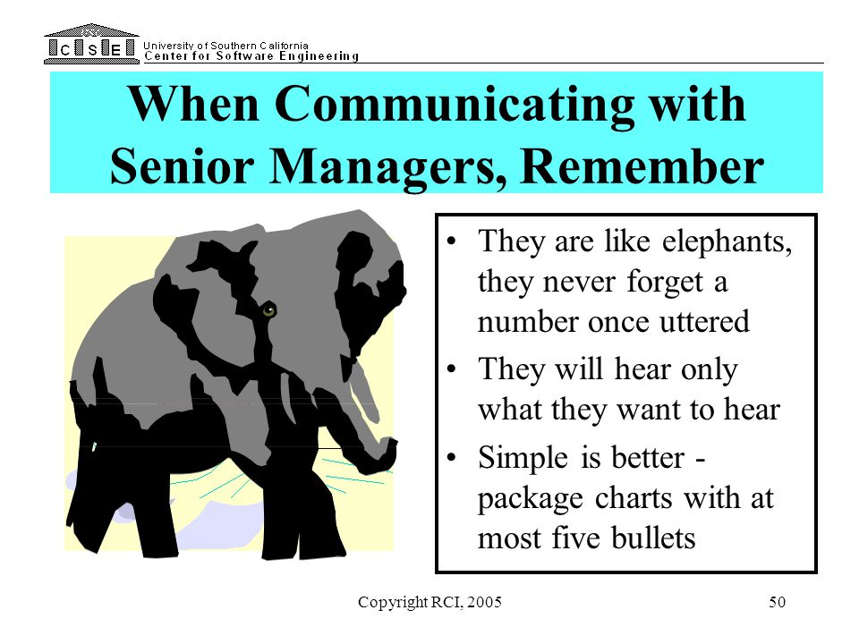 When Communicating with Senior Managers, Remember