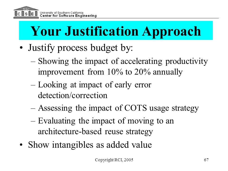 Your Justification Approach