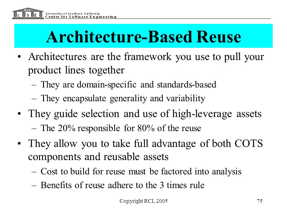 Architecture-Based Reuse