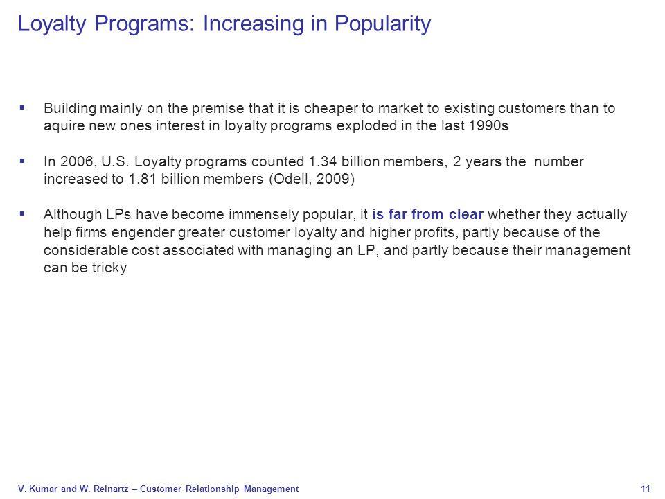 Loyalty Programs: Increasing in Popularity