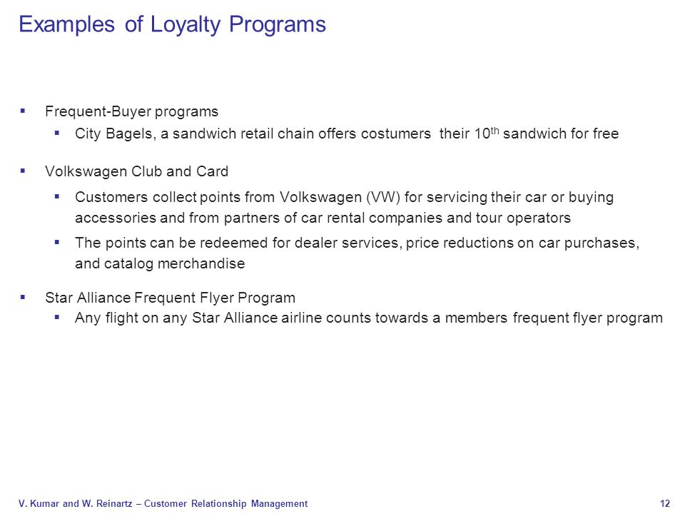 Examples of Loyalty Programs