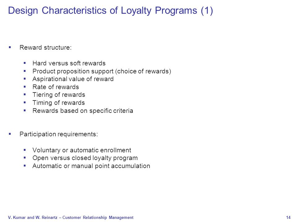 Design Characteristics of Loyalty Programs (1)