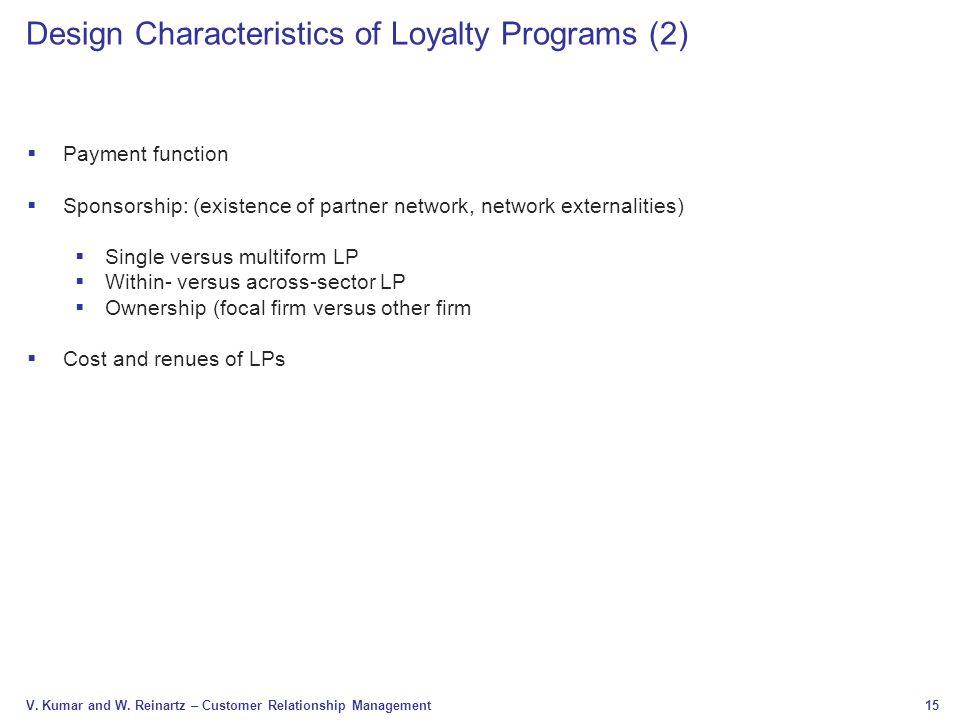 Design Characteristics of Loyalty Programs (2)