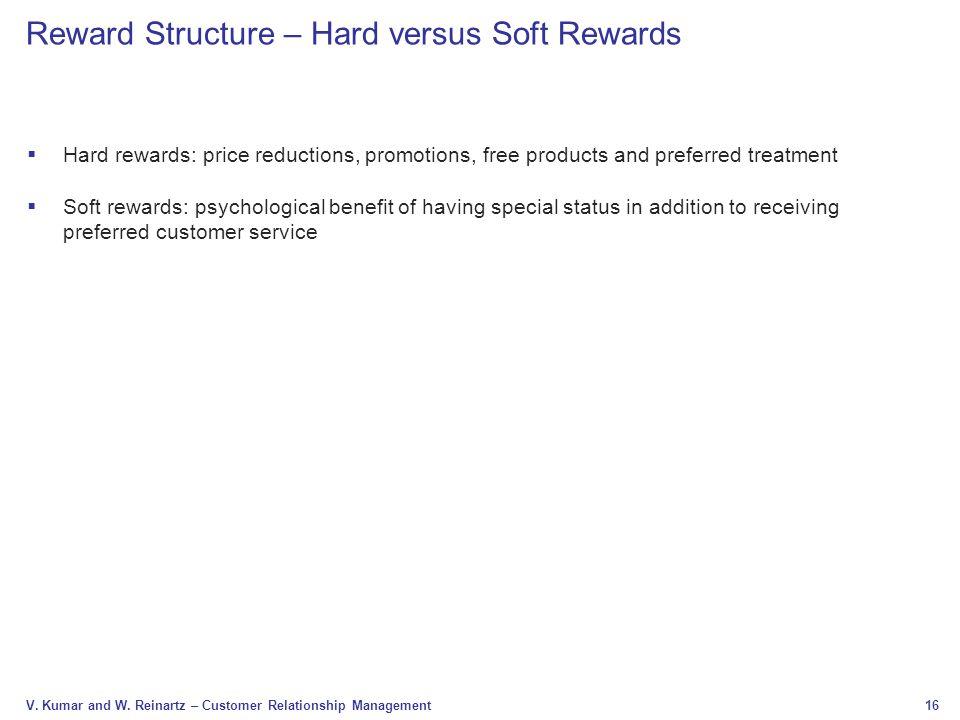 Reward Structure – Hard versus Soft Rewards