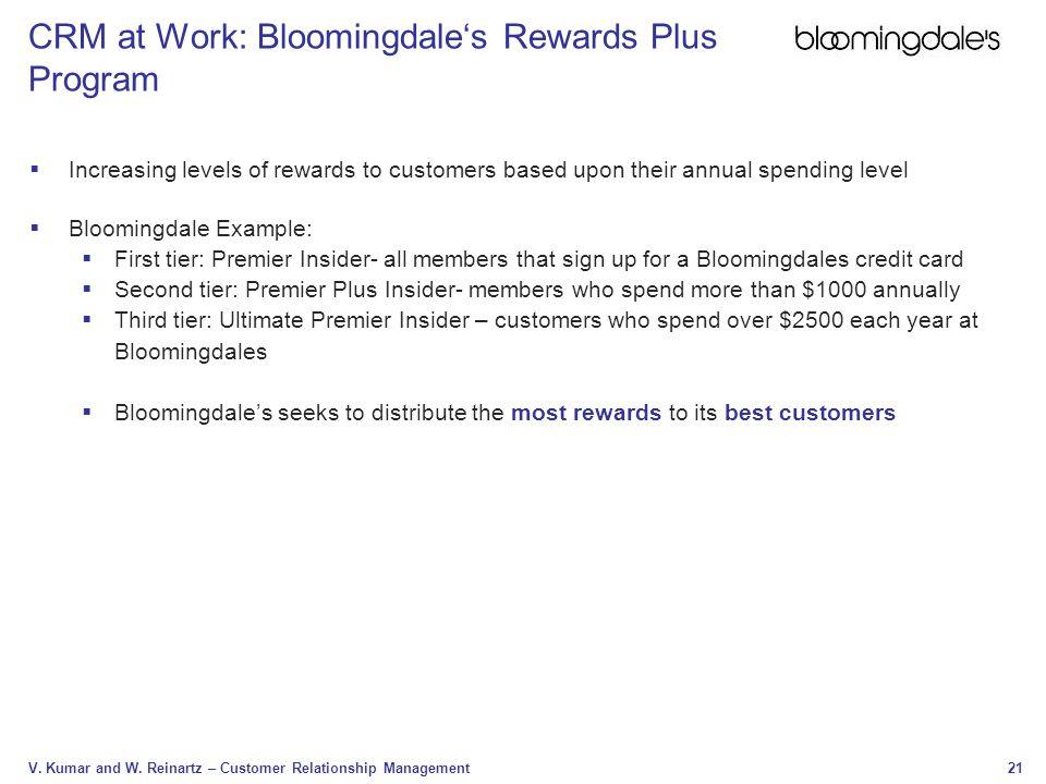 CRM at Work: Bloomingdale's Rewards Plus Program