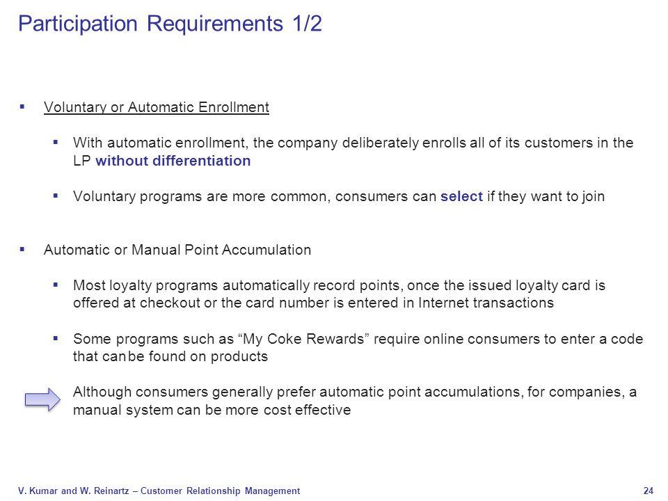 Participation Requirements 1/2