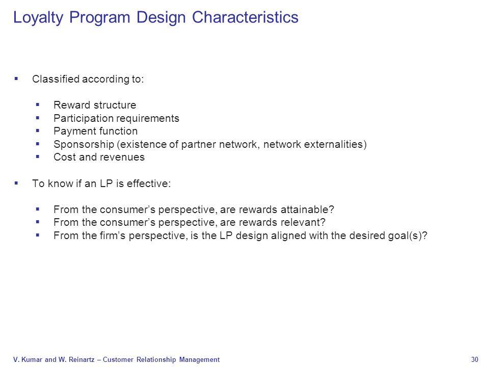 Loyalty Program Design Characteristics