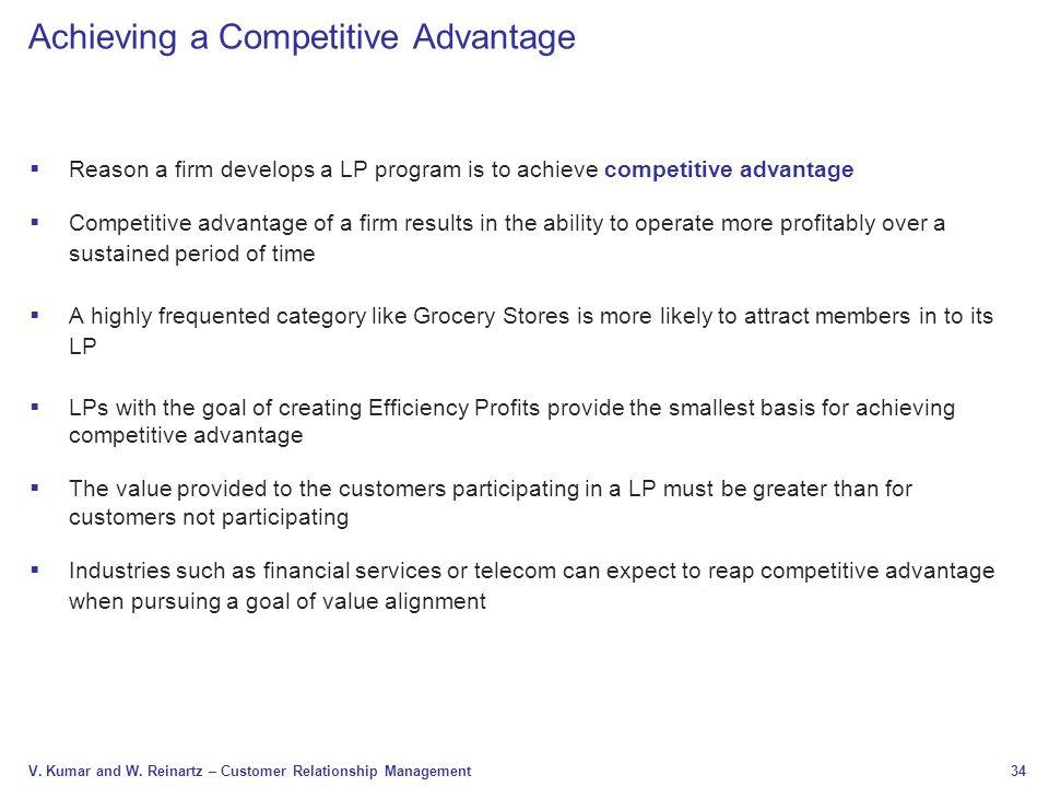 Achieving a Competitive Advantage