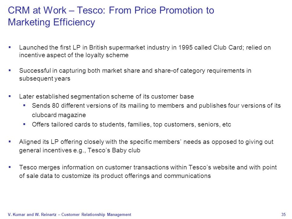 CRM at Work – Tesco: From Price Promotion to Marketing Efficiency