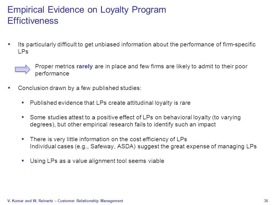 Empirical Evidence on Loyalty Program Effictiveness