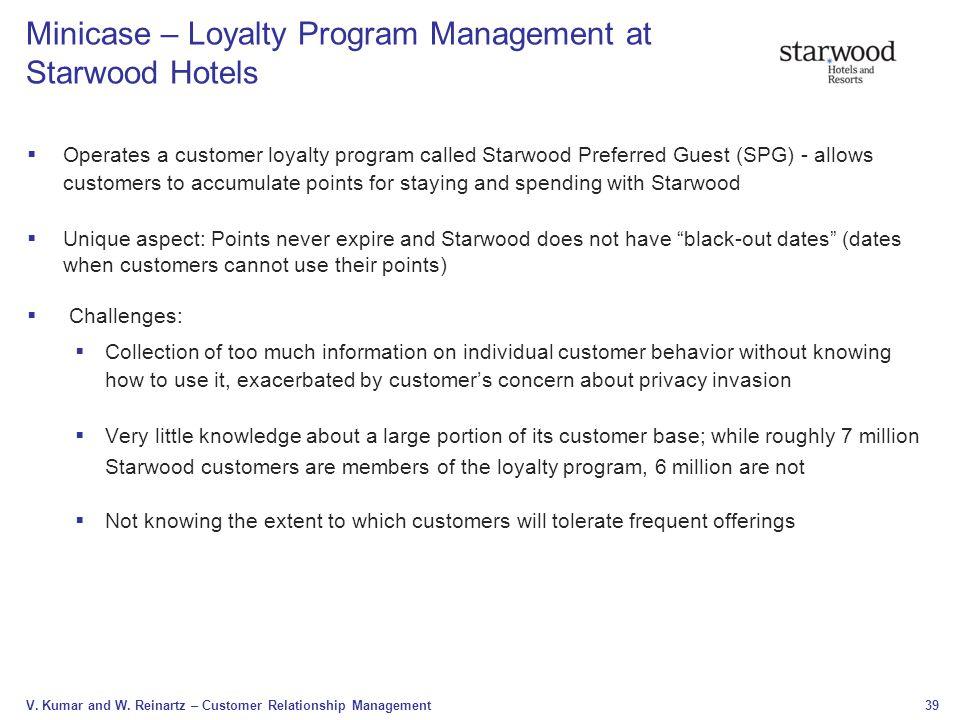 Minicase – Loyalty Program Management at Starwood Hotels